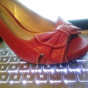 Alex Marie Red Peeptoe Shoes